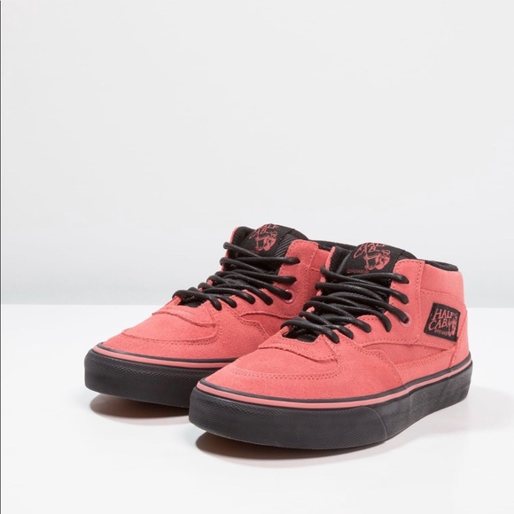 f1a6583f68 VANS Half Cab Sneaker Mens 9 Faded Rose   Black